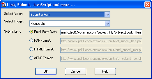 How to submit PDF Form Data by Email using PDFill PDF Form Maker