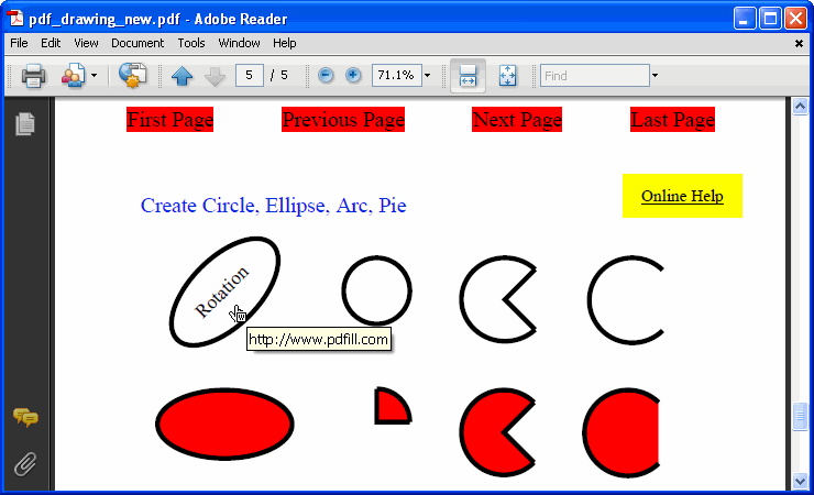 Drawing Lines Shapes Or Text On Bitmaps : How to draw rectangle circle and basic shape on pdf page