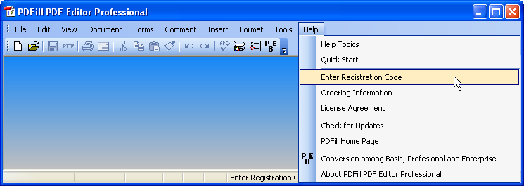 how to register pdfill pdf editor professional