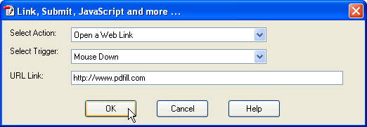 PDFill PDF Ediotr: How to add PDF Link and PDF Action