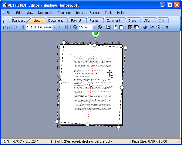 How to Deskew the PDF Pages