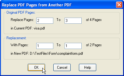 under original specify the range of pages in the original document