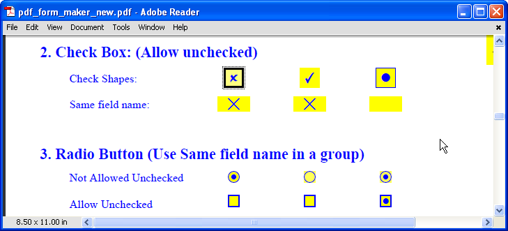 PDFill PDF Form Maker: How to Create Check Box and Radio
