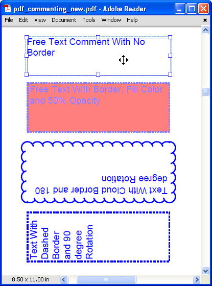 PDF Comment & Markup Tools: Add Text Box Comment to a PDF