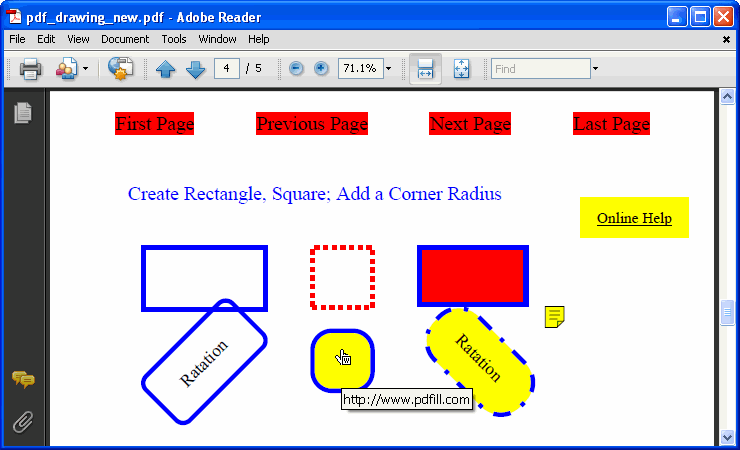 PDFill PDF Editor: Draw Shapes onto PDF Page