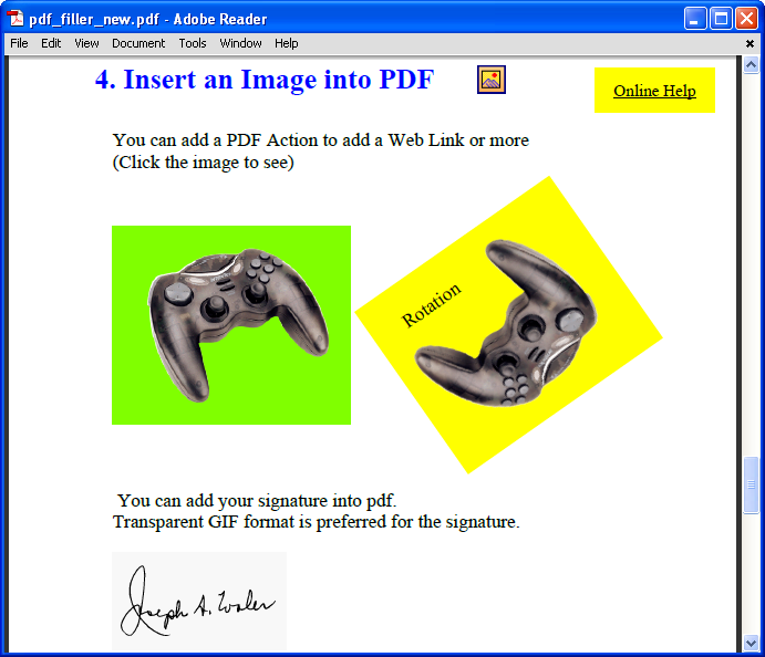 How to Insert Image into a PDF Document