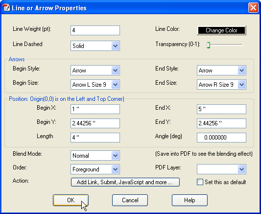 How to Draw Line or Arrow on PDF Page