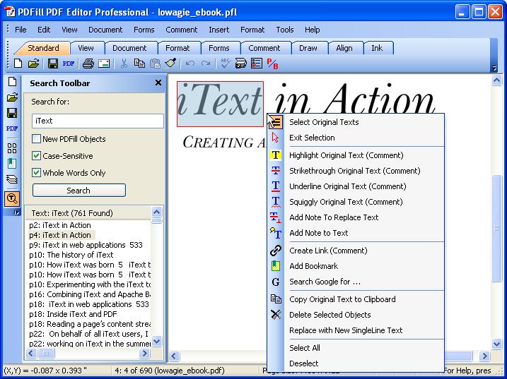 PDFill PDF Search: Advanced Text Search