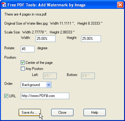 Free PDF Editor Tools - Stamp or Watermark PDF Pages using