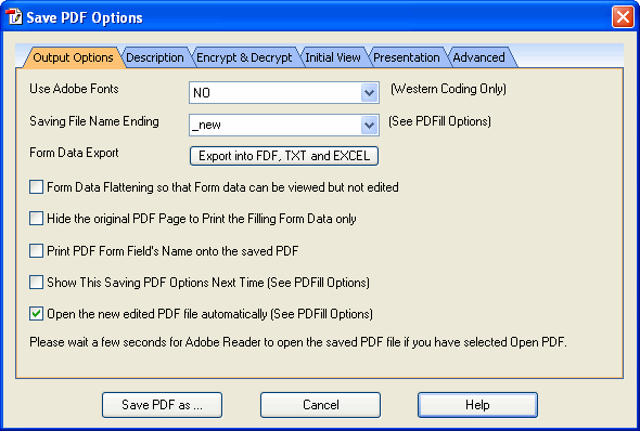 Can You Edit A Pdf >> Save The Pdf Editing As A New Pdf With Options Output Description