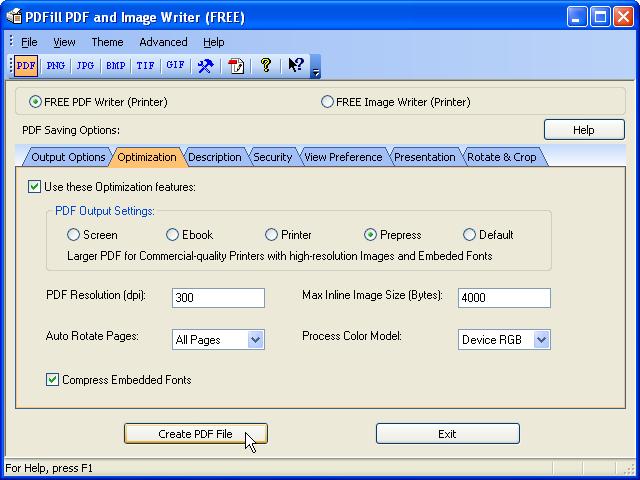FREE PDF Writer, Printer, Creator or Converter for FREE PDF